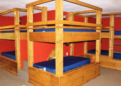 Retreat center bunk beds