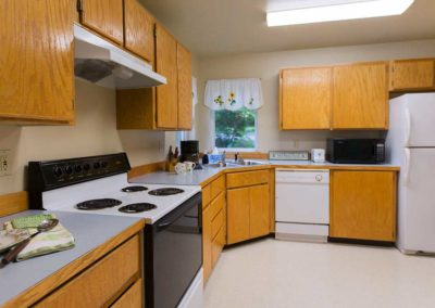 The upper kitchen in Selkirk Lodge at Twinlow Camp and Retreat Center
