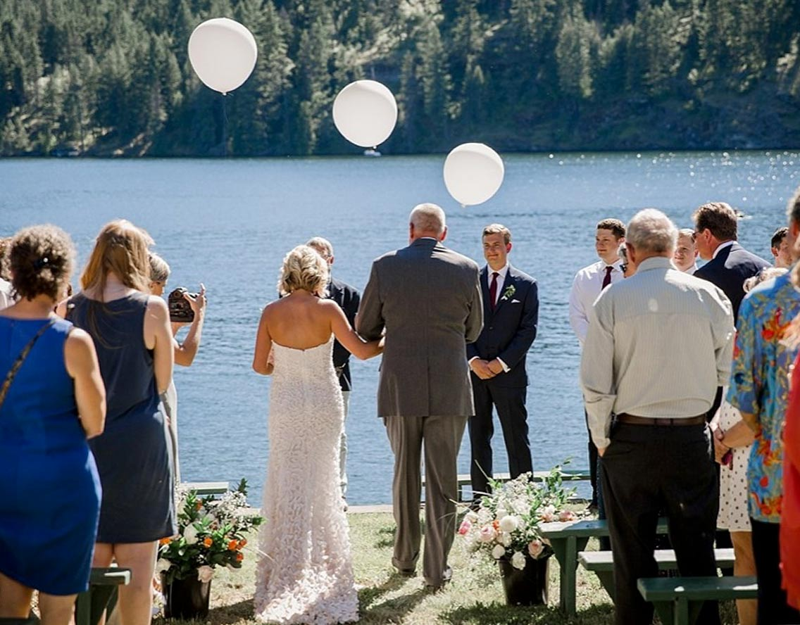 Wedding on the lake at Twinlow Camp