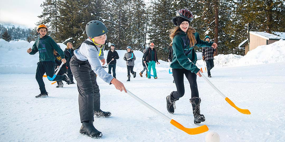 Broomball and hockey at Twinlow Camp