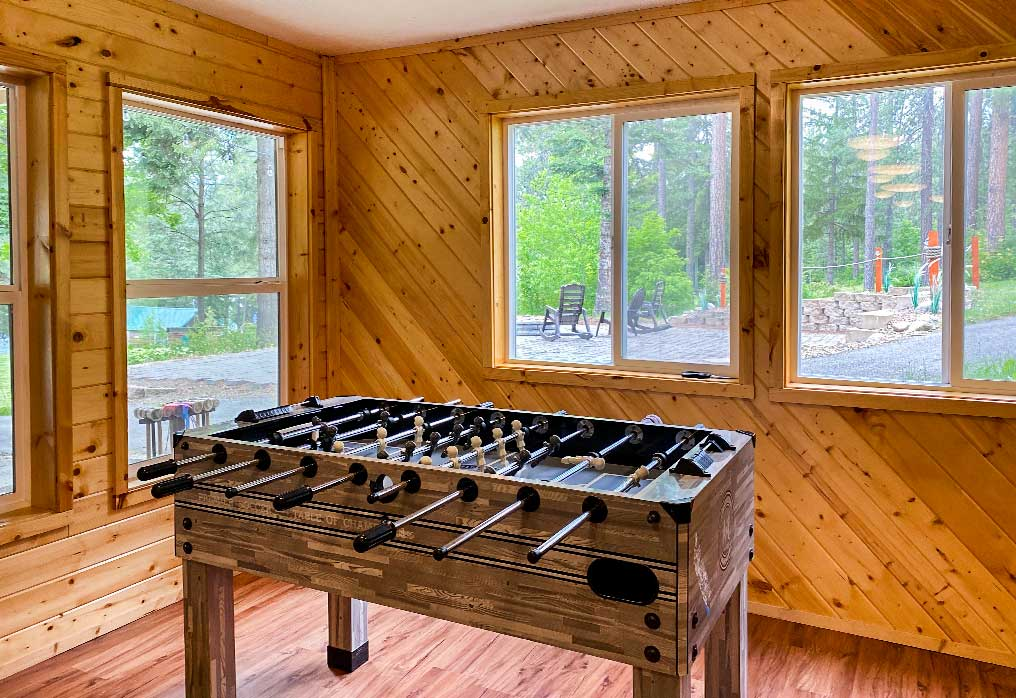 Foosball Camp Grounds at The Oar At Twinlow
